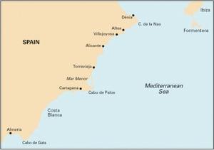 Imray M12 - Cabo de Gata to Denia & Ibiza- 1:500,000 WGS 84