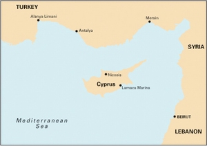 Imray M21 - South Coast of Turkey, Syria, Lebanon & Cyprus