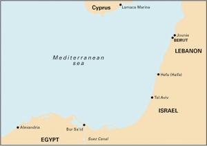 Imray M22 - Egypt to Israel, Lebanon and Cyprus