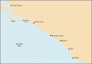 Imray M27 - Dubrovnik to Bar & Ulcinj - 1:220,000 WGS 84