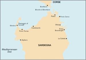 Imray M8 - North Sardegna - 1:255,000 WGS 84