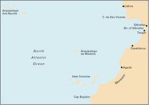 Imray C20 - Gibraltar to Islas Canarias - 1:2,500,00 WGS 84