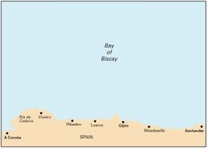 Imray C43 - Santander to A Coruña - 1:350,000 WGS 84