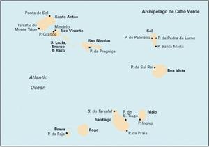 Imray E4 - Arquipelago de Cabo Verde - 1:500,000 WGS 84