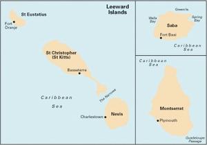 Imray A25 - St Eustatius, Nevis, St Christopher, Montserrat