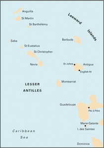 Imray A3 - Anguilla to Dominica - 1:400,000 WGS 84