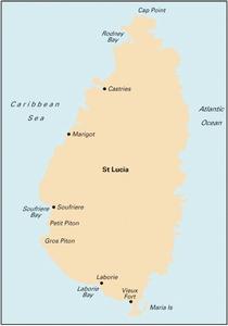 Imray B1 - St Lucia - 1:75,000 WGS 84