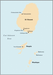 Imray B30 - St Vincent to Mustique - 1:90,000 WGS 84
