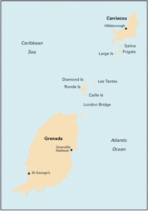 Imray B32 - Carriacou to Grenada - 1:90,000