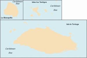 Imray D14 - Islas los Testigos, Isla La Tortuga, La Blanquil