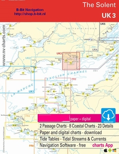 Papieren + Digitale Kaarten Overzicht Noordzee + Kanaal