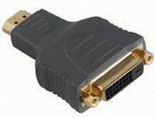 HDMI ADAPTER NAAR DVI (HDMI-M NAAR DVI-F)